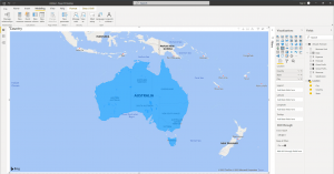 How to create a map chart in Power BI - Step 2