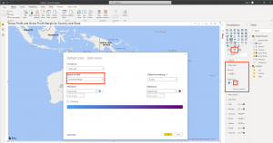 How to create a map chart in Power BI - Step 4