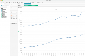 How to create a stacked bar and a line in Tableau - Step 4